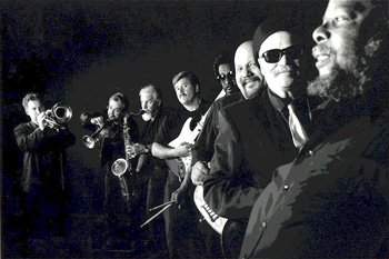 Cold Shott & the Hurricane Horns with Ted Kowal and Paul Hamilton, image by Ray Bowen